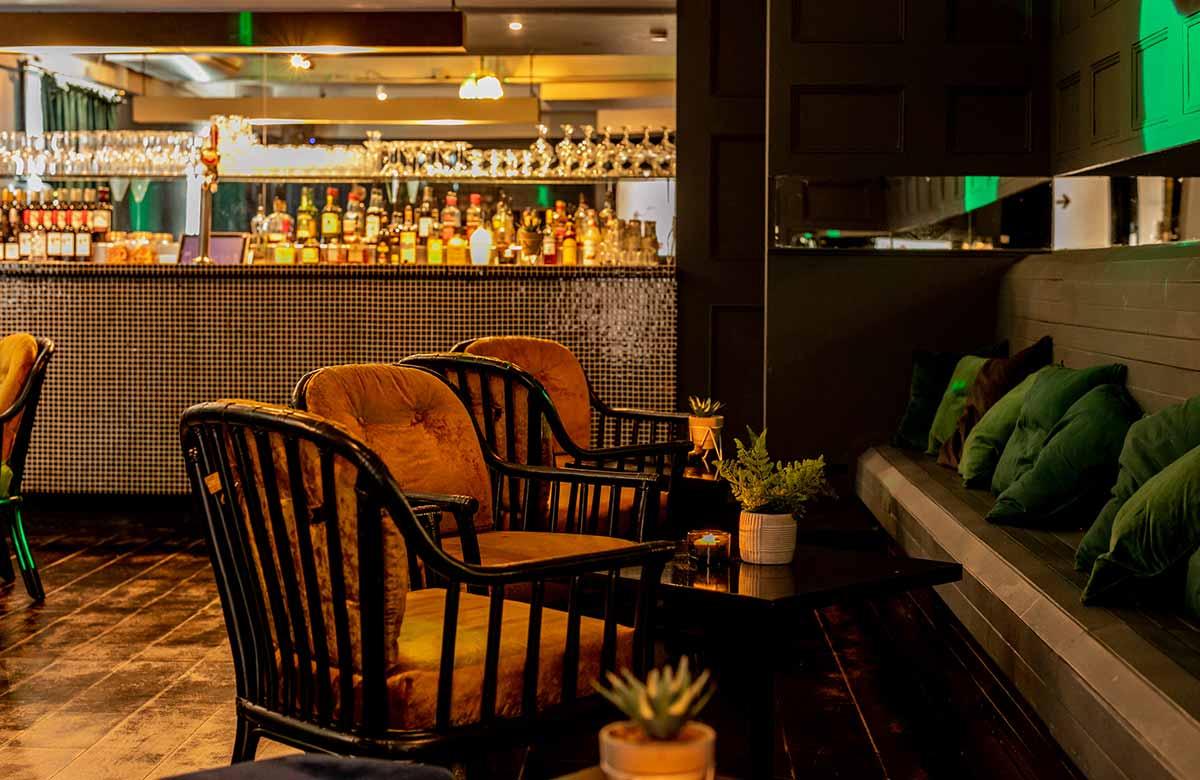 Cosy indoor bar in South London