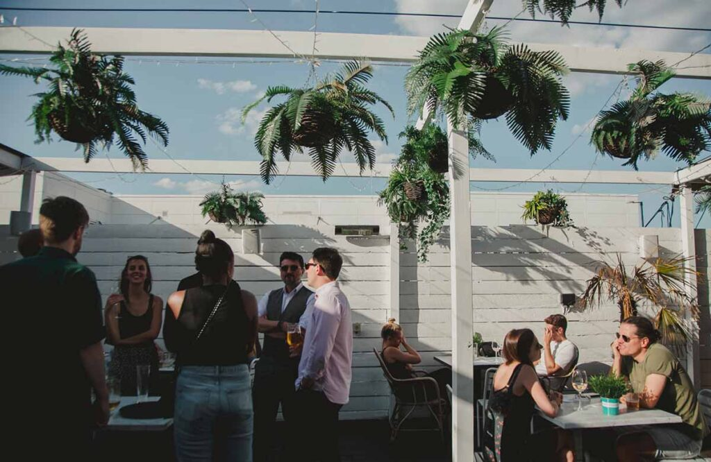 Outdoor drinks and dining in South London